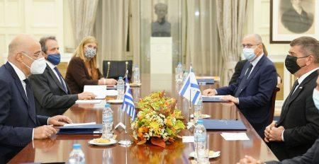 Διευρυμένες συνομιλίες αντιπροσωπειών της Ελλάδας και του Ισραήλ στο Υπουργείο Εξωτερικών