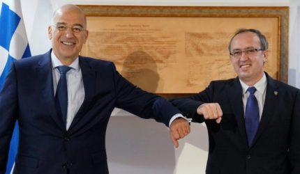 Πρίστινα: Συνάντηση Νίκου Δένδια με τον πρωθυπουργό Αβντούλα Χότι