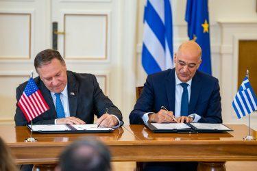 Νίκος Δένδιας: Εκκινούμε άμεσα νέο διάλογο για την διεύρυνση της αμυντικής συμφωνίας με τις ΗΠΑ