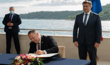 Πομπέο από την Κροατία: Οι ΗΠΑ θα τηρήσουν την δέσμευση για αντιμετώπιση την επιρροή Κίνας-Ρωσίας στα Βαλκάνια
