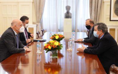 Με τον Πολιτικό Διοικητή του Αγίου Όρους συναντήθηκε ο Νίκος Δένδιας