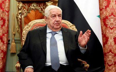 Ο υπουργός Εξωτερικών της Συρίας Ουάλιντ αλ Μουάλεμ απεβίωσε σε ηλικία 79 ετών
