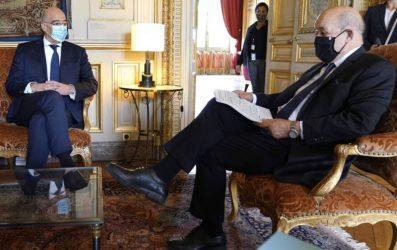 Οι υπουργοί Εξωτερικών της Ελλάδας και της Γαλλίας συζήτησαν για την τουρκική προκλητικότητα