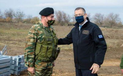 Επίσκεψη ΥΦΕΘΑ Αλκιβιάδη Στεφανή στην Περιοχή Ευθύνης της 1ης Στρατιάς