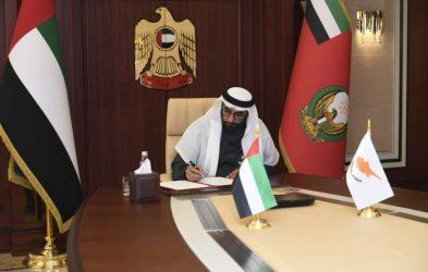 Υπογραφή μνημονίου αμυντικής και στρατιωτικής συνεργασίας Κύπρου και Ηνωμένων Αραβικών Εμιράτων