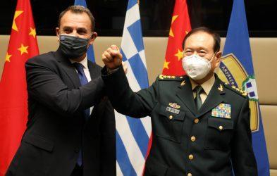 Συνάντηση Νίκου Παναγιωτόπουλου με τον Υπουργό Άμυνας της Κίνας, Γουέι Φένγκε