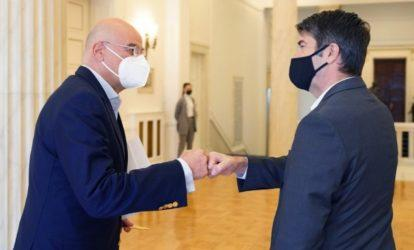 Η Ανατολική Μεσόγειος στο επίκεντρο της συνάντησης Νίκου Δένδια με τον Γάλλο πρέσβη