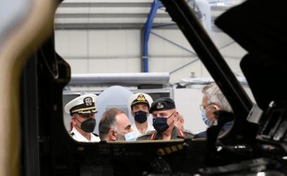Τζέφρι Πάιατ στην τελετή παραλαβής του S-70:  Η πρωτοβουλία μεταξύ του Ναυτικού των ΗΠΑ, της Lockheed Martin και της Aeroservices καθιερώνει την Ελλάδα περιφερειακό κόμβο για υποστήριξη υψηλής τεχνολογίας