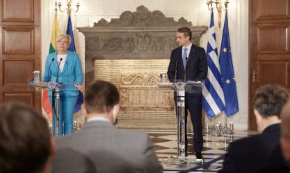 Πρωθυπουργός: Η Ελλάδα βρίσκεται στο πλευρό της Λιθουανίας από την έναρξη του πρόσφατου μεταναστευτικού ζητήματος