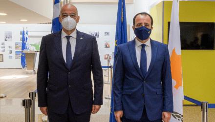 Νίκος Δένδιας: Η παρουσία μου εδώ συμβολίζει την δέσμευση της Ελληνικής κυβέρνησης να σταθεί στο πλάι του Κυπριακού λαού
