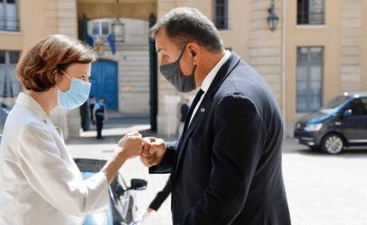 Συνάντηση Νίκου Παναγιωτόπουλου με την υπουργό Άμυνας της Γαλλίας
