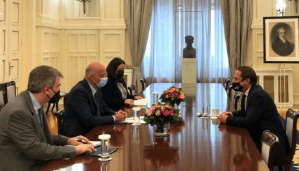 Συνάντηση Νίκου Δένδια με τον Πρέσβη της Ουκρανίας στην Αθήνα