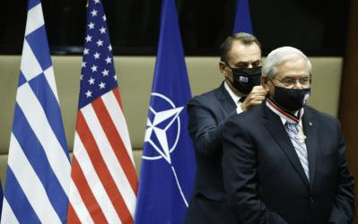Υπουργός Άμυνας στην συνάντηση με τον Γερουσιαστή Μενέντεζ: Η εξαιρετική ισχύς της διμερούς αμυντικής συνεργασίας Ελλάδος – ΗΠΑ οφείλει πολλά στην ισχυρή υποστήριξη σας