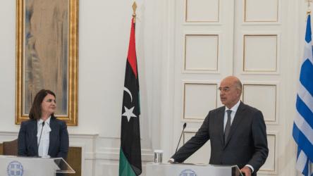 Νίκος Δένδιας στην ΥΠΕΞ της Λιβύης: Αντιμετωπίζετε με θάρρος, με παρρησία μια σειρά από προκλήσεις