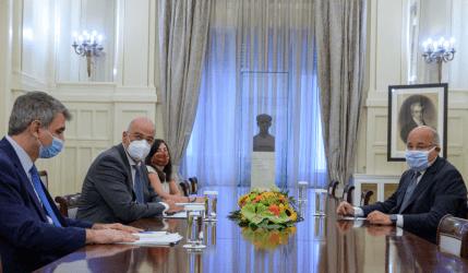 Συνάντηση του Υπουργού Εξωτερικών με τον πρέσβη της Αιγύπτου