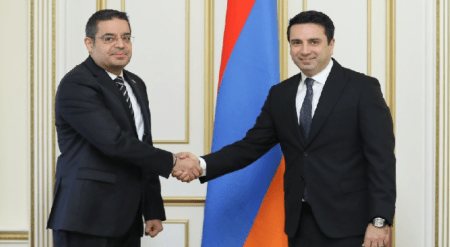 Συνάντηση του Πρόεδρου της Εθνικής Συνέλευσης της Αρμενίας με τον Σύριο Πρέσβη