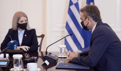 Πρωθυπουργός στην Πρόεδρο της Βουλής της Κυπριακής Δημοκρατίας: Προτεραιότητα για την Ελληνική εξωτερική πολιτική ο τερματισμός της τουρκικής κατοχής