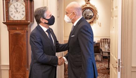 Διπλωματικές πηγές: Οι διμερείς σχέσεις και οι εξελίξεις στην Αν. Μεσόγειο στο επίκεντρο της συνάντησης Ν. Δένδια- Α. Μπλίνκεν