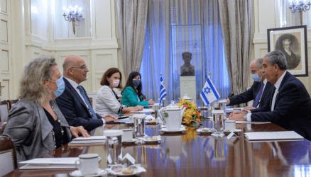 Συνάντηση του Υπουργού Εξωτερικών με τον πρόεδρο του Κοινοβουλίου του Ισραήλ