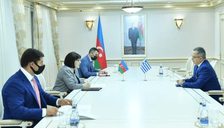 Μπακού: Συνάντηση του 'Ελληνα Πρέσβη με την Πρόεδρο της Βουλής